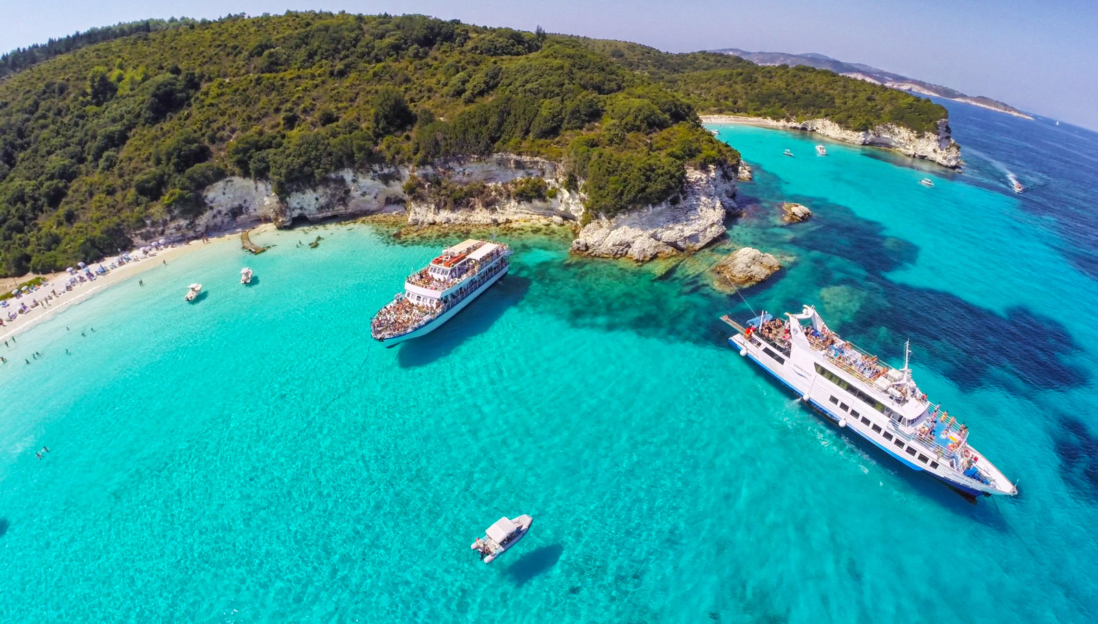 The Boat Trip from Corfu to Paxos and Antipaxos islands